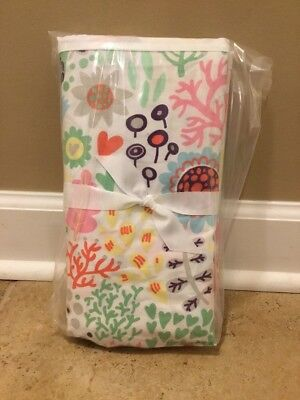 NEW Pottery Barn Kids Margherita Missoni Printed Floral Crib Skirt MULTI