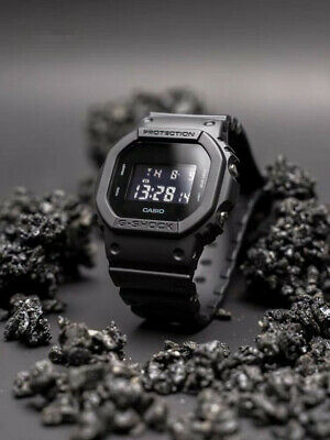 NEW G-SHOCK DW5600BB-1 Men's Watch Military Black Resin Strap Digital Watch