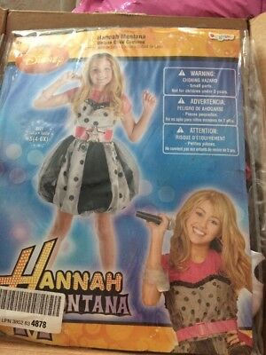 Girls 4-6 Disney Hannah Montana Fancy Dress Costume - Miley Cyrus Kostüm