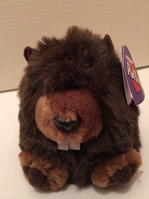 "NWT Puffkins Chomper Beaver Plush 4"" Stuffed Animal Brown Bday 2/5/97"