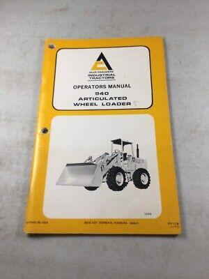 Original Allis Chalmers 940 Wheel Loader Operators Manual