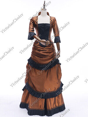 Black Ball Gown Halloween Costumes (Victorian Edwardian Vintage Bustle Dress Ball Gown Witch Halloween Costume)