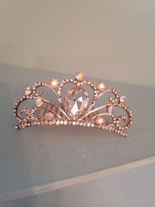 Diamond Hair Slide Tiara . Small Tiara On Comb. Childs Holy Communion Tiara Comb