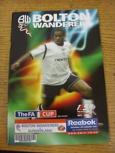 04-01-2003-Bolton-Wanderers-v-Sunderland-FA-Cup-Good-condition-unless-previo