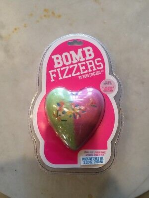 Bath Bomb Fizzers By Yoyo Lip Gloss Orange Scent Heart Shaped Bath Bomb