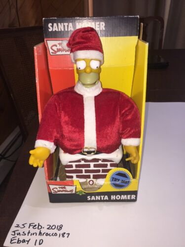 Gemmy Talking Santa Homer The Simpsons Christmas Gemmy Talking Homer Simpson