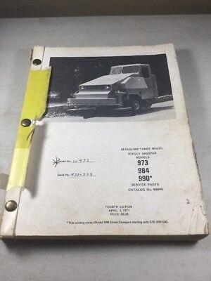 Fmc Wayne 973 983 990 Three Wheel Street Sweepers Parts Catalog Manual