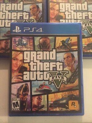 Sealed Grand Theft Auto V 5 Playstation 4 Ps4 Pro Gta Online Gtav Gta5