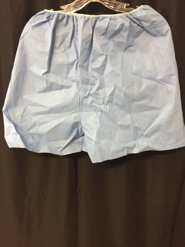 New Lot Of 25 Techstyles Elastic Waist Medium Blue Exam Shorts 45410-103