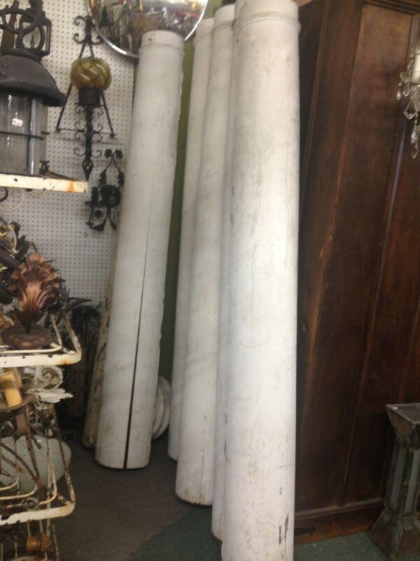 Old Antique Vintage Post Wood Columns