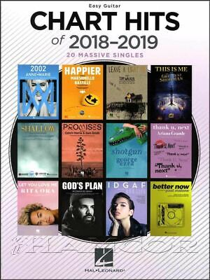 Chart Hits of 2018-2019 Easy Guitar Chord Melody Songbook SAME DAY DISPATCH Easy Guitar Chord Chart
