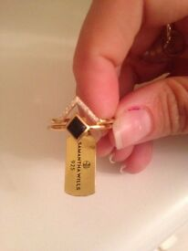 Gold Plated Onyx Ring set