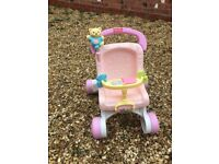 Pink Fisher Price Pushchair
