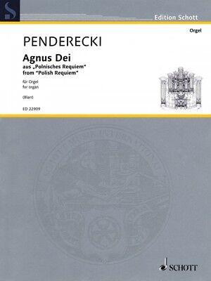 Agnus Dei Sheet Music from Polish Requiem Organ Organ Collection Book 049045908