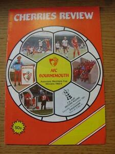 07-12-1985-Bournemouth-v-Dagenham-FA-Cup-Item-In-very-good-condition-unless