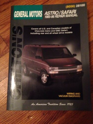 Chiltons General Motors Astro/ Safari 1985-96 Repair Manual