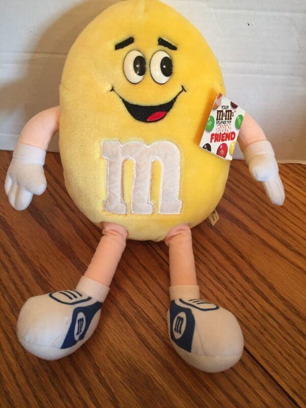 """M & M  Fun Friend Plush Toy 13"""" Yellow Caltoy"""
