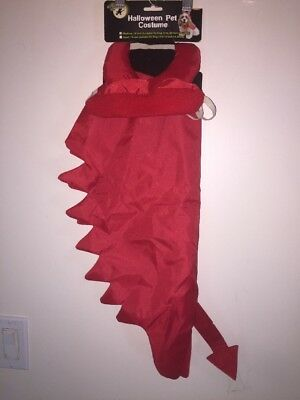 Devil Dog Costume Pets Size Medium Red Glitter Horns Cape Tail Evil Pup Male Fem