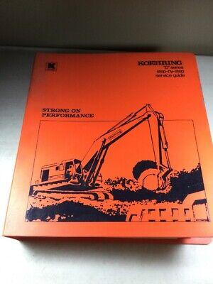 Koehring 466d 666d 866d 1066d Excavator Pneumatic Hydraulic Service Manual