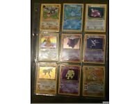 Rare out of print Pokemon cards - Complete Fossil set excellent condition! 62/62