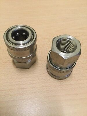 2- Power Pressure Washer Fitting 14 Fpt Female 14 Stainless Quick Connect