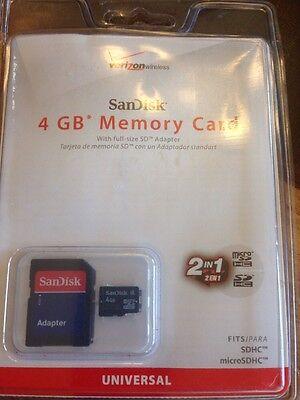 Карта памяти verizon SanDisk 4 GB