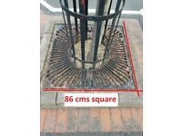 Tree Guard, with Cast Iron grill - used