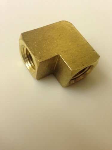 "1/4"" NPT Brass 90 Degree Elbow USA  Solid Brass Stock-Top Quality"