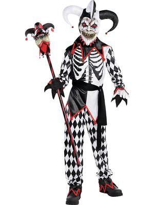 ★ Amscan Horror Sinister Jester Clown ,Harlekein,Joker Kinder Kostüm - Kindes Sinister Jester Kostüm