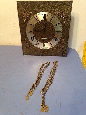 Vintage Seth Thomas Grandmother Clock Movement Dial Hands Parts