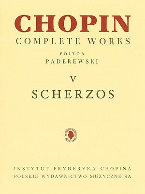 Scherzos Sheet Music Chopin Complete Works Vol. V PWM Book NEW 000132319 Complete Works Music Book