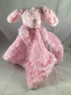 Blankets and & Beyond Pink Rosette Bunny Dog Puppy Baby Security Blanket Lovey
