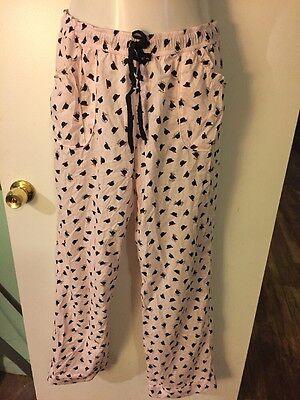 Victoria's Secret VS Pink with Derby Hat Design Lounge / Pajama Pants ...Cotton ()