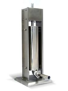 Lightly Used Deer 15LB/7L Sausage Stuffer 2 Speed Stainless Steel Vertical Sausage Filler Condition: Lightly Used