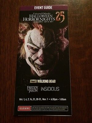HHN 25 Halloween Horror Nights 2015 Event Guide Map  FREE SHIPPING See Dates - Halloween Horror Nights Dates