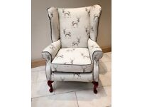 Re-stored wingback chair / armchair