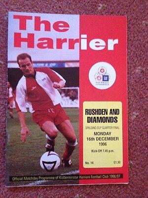 KIDDERMINSTER HARRIERS V RUSHDEN & DIAMONDS 1996-97 SPALDING CUP QF