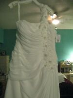 Brand New Size 12 Soft White 1 Shoulder Wedding Dress
