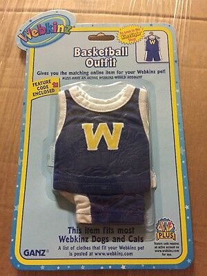 Webkinz Clothing Basketball Outfit With Online Code From Ganz Plush