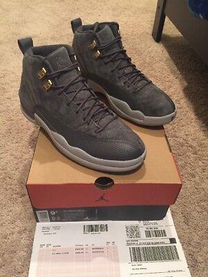 Air Jordan Retro 12 XII Dark Grey/Dark Grey-Wolf Grey US Size 9.5, 130690 005