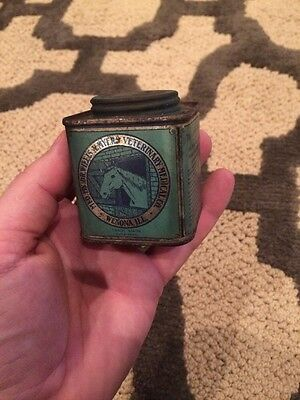 Vintage Dr. Willis Myers Veterinary Co. Hoof Ointment Oil Tin Horse Winona, IL