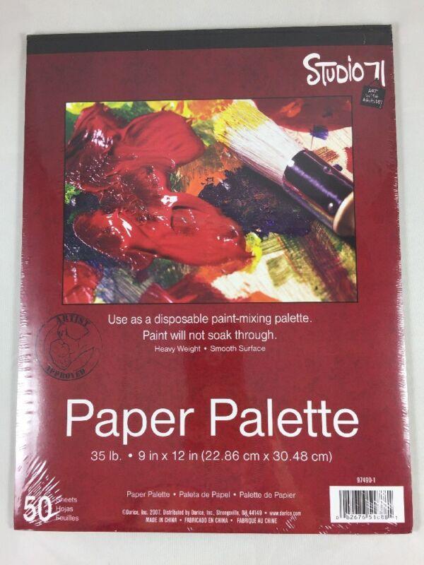 "Darice Studio 71 Paper Palette 35 lb. 9""X12"" 50 Sheets Heavy Weight"