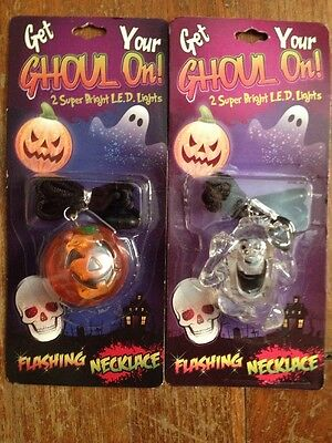 Get your ghoul on, Halloween-LED Flashing Lights Necklace,