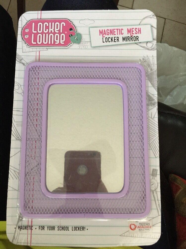 New Locker Lounge Magnetic Locker Mesh Mirror Light Purple