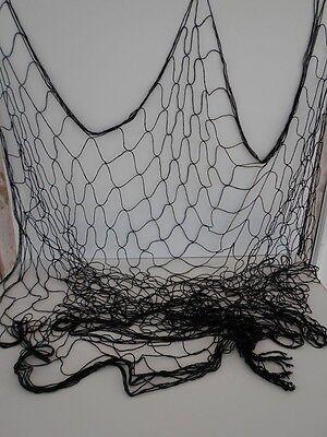 Decorative Black Fishing Net 4'x12' ~ Fish Netting ~ Nautical Luau Party Decor
