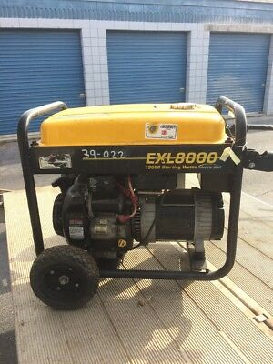Generac 15 Hp Exl8000 Generator - Used - Parts Only