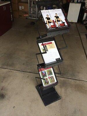 Pop-up Brochure Holder Literature Rack For Magazines Zedup