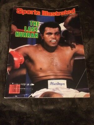 Muhammad Ali Sports Illustrated October 13, 1980 - The Last Hurrah - Excellent