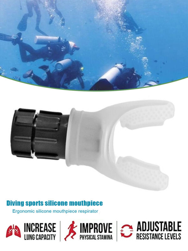 Expand A Lung Respiratory Fitness Trainer Diving Silicone Mouthpiece Deep  HQ