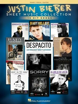 Justin Bieber Sheet Music Collection 17 Hit Songs Piano Vocal Guitar 000248634